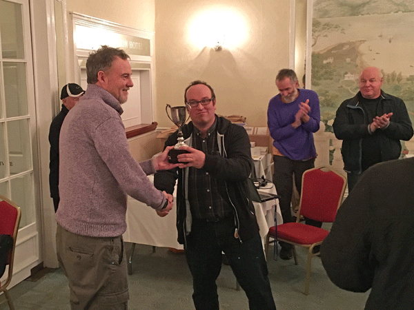 Ben Wilkinson receives the DCCA trophy for 2016