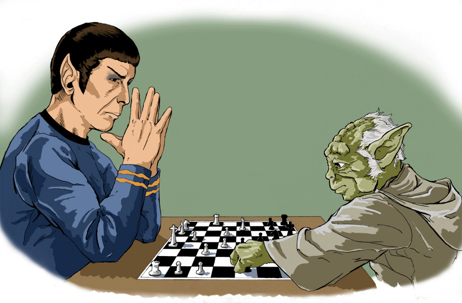 Spock and Yoda Play Chess